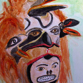 Cannibal Indian Mask by Stanley Morganstein