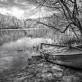 Debra and Dave Vanderlaan - Canoe at the Lake Black and White