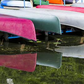 Canoes - Lake Wingra - Madison  by Steven Ralser