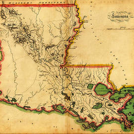 MotionAge Designs - Carey s Map of Louisiana in 1814