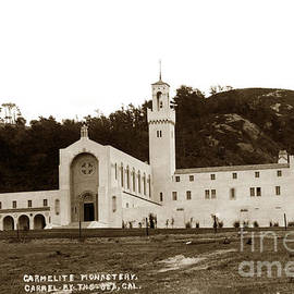 Carmelit Monastery Carmel-By-The-Sea at San Jose Creek South of  Carmel 1931 by California Views Archives Mr Pat Hathaway Archives