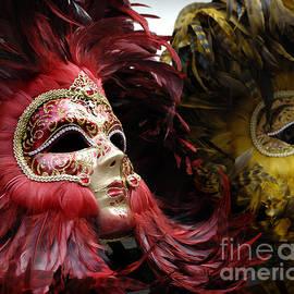 Carnival Masks Venice Italy by Bob Christopher