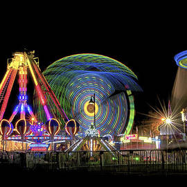 Carnival Rides At Night 10 by Thomas Woolworth