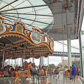 Carousel at Brooklyn Bridge Park by Barbara McDevitt