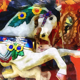 Carousel Horse Closeup by Susan Savad