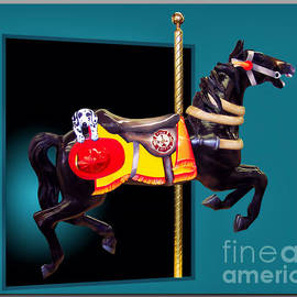 Carousel Horse Fireman 01 Teal by Thomas Woolworth