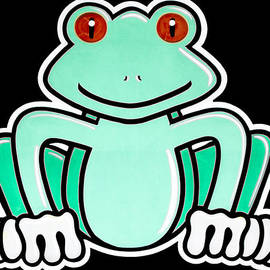 Cartoon Frog by Photographic Art by Russel Ray Photos