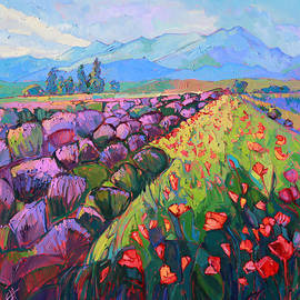 Cascading Lavender by Erin Hanson
