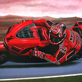 Casey Stoner on Ducati by Paul Meijering