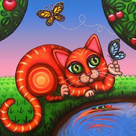 Cat in Reflection by Douglas Jones