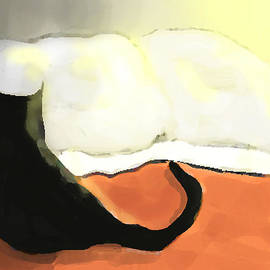 Cecily Mitchell - Cat on Orange Bed