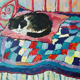 Peggy Johnson - Cat on Pink