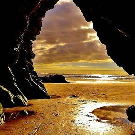 California Coastal Commission - Cave Sunset at Shell Beach by Caron Krauch