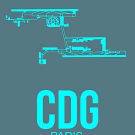 CDG Paris Airport Poster 1 by Naxart Studio