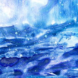 Danielle  Parent - Celestial Or Storming Sea -  Alcohol Inks