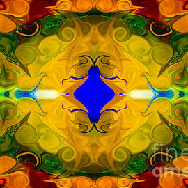 Omaste Witkowski - Centered In Peace Abstract Pattern Artwork by Omaste Witkowski