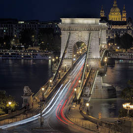 Joan Carroll - Chain Bridge Night Traffic