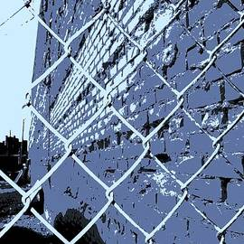 Chainlink and A Wall in blue by Daniel Thompson
