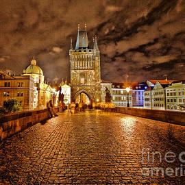 Charles Bridge At Night by Madeline Ellis
