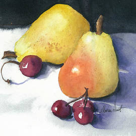 Cherries and Pears by Maria Hunt