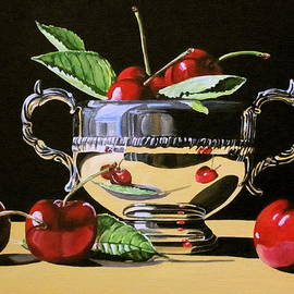 Lillian  Bell - Cherries in silver