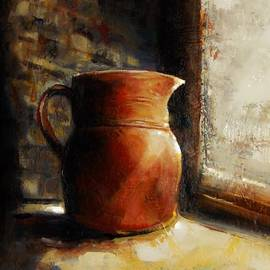 Jean Cormier - Chiaroscuro Pot in The Window