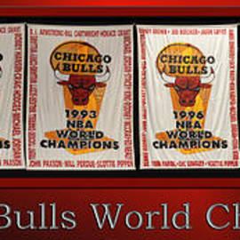 Thomas Woolworth - Chicago Bulls World Champions Banners