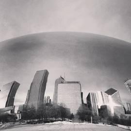 Cloud Gate Chicago Skyline Reflection