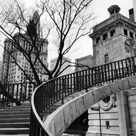 Chicago Staircase Black and White Picture