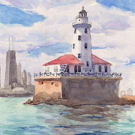 Chicago Harbor Light by Max Good