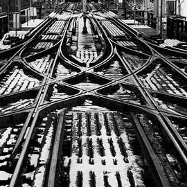 Chicago 'l' Tracks Winter by Kyle Hanson