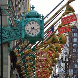 Thomas Woolworth - Chicago Macys Department Store Clock And Holiday Decorations