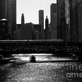 Chicago Morning Commute - Monochrome by Frank J Casella