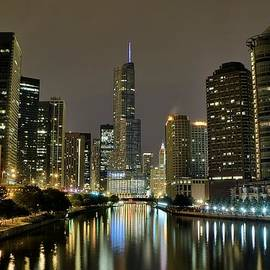 Frozen in Time Fine Art Photography - Chicago Night River View