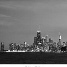Twenty Two North Photography - Chicago Skyline in Black and White
