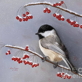 Lena Auxier - Chickadee and Berries