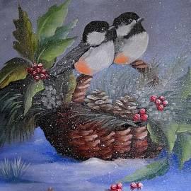 Chickadee dee dee by Fineartist Ellen