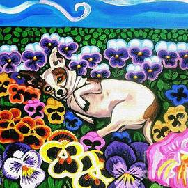 Chihuahua In Flowers by Genevieve Esson