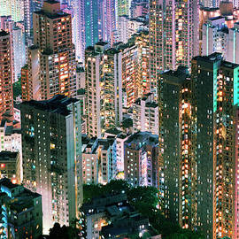 China, Hong Kong, Apartment Blocks At by Martin Puddy