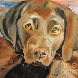 PainterArtist FIN - Chocolat labrador puppy