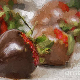 Chocolate Covered Strawberries Painterly 3 by Andee Design