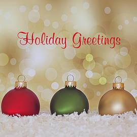 Christmas Baubles by Kim Hojnacki