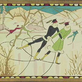 American School - Christmas Card with Figure Skaters