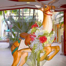 Christmas Carousel Reindeer by Mary Deal