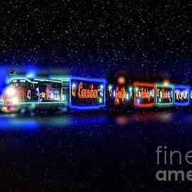 Christmas train by Viktor Birkus