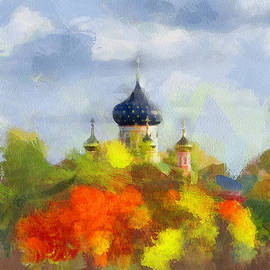 Yury Malkov - Church behind the yellow trees