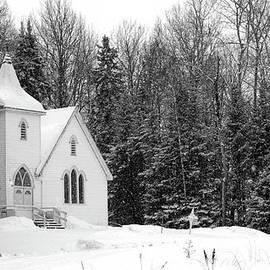 David Arment - Church in the Snow B and W