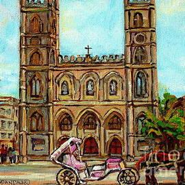 Church Paintings Old Montreal Notre Dame Basilica Cspandau Heritage Montreal Artist City Scenes  by Carole Spandau