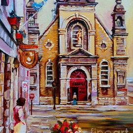 Church Paintings Old Montreal Sailor's Chapel Rue St Paul Eglise Bonsecours Carole Spandau by Carole Spandau