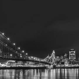 Dick Wood - Cincinnati Skyline at night